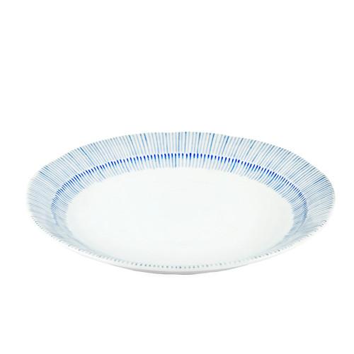 """Kyo Tokusa Blue Lined Salad Plate 9.37"""" dia"""