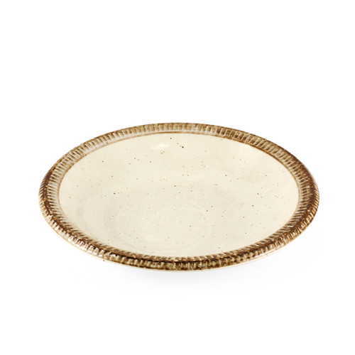 """[Clearance] Rimmed Ivory Salad Plate 8.3"""" dia"""