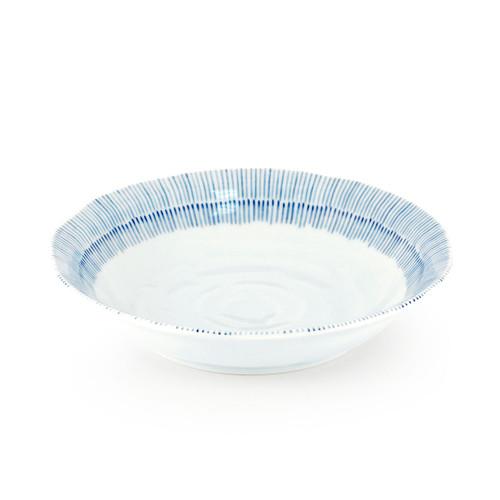 """Kyo Tokusa Blue Lined Deep Plate 27 fl oz / 8.46"""" dia"""