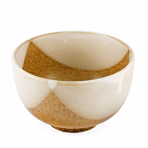 "Natsume Golden Brown and White layered Bowl 46 fl oz / 6.5"" dia"