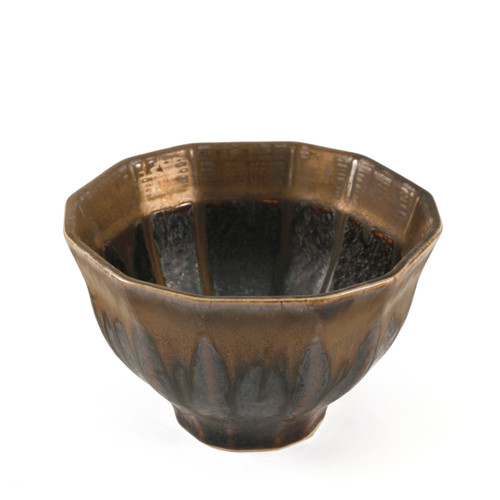 "Kinkessho Bronze Rice Bowl 4.4"" x 4.25"""