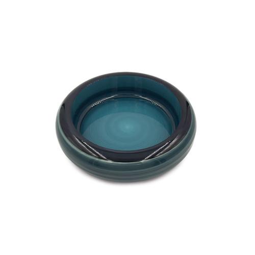 "Cobalt Marble Sushi Serving Tray (Sushi Oke) 6.3"" dia"