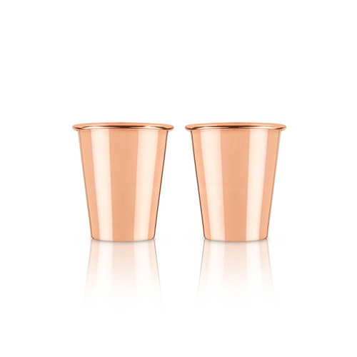 Solid Copper Shot Cups 2 fl oz (Set of 2)