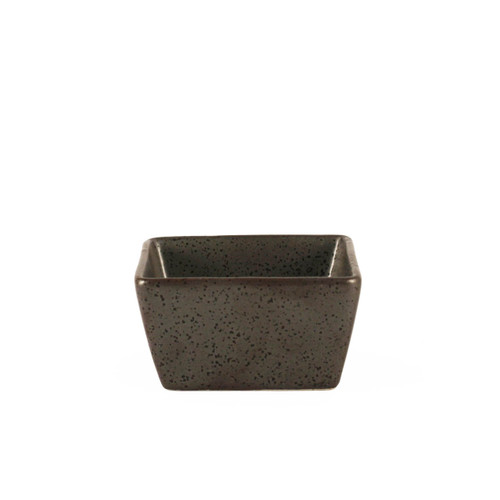 "Black Speckled Square Sauce Dish 3"" x 3"""