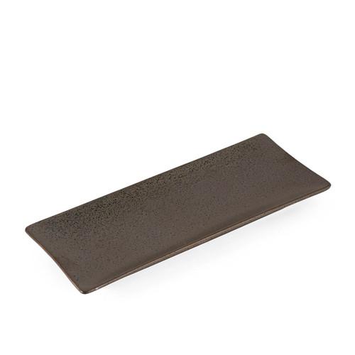 "Black Speckled Rectangular Plate 10.5"" x 4.38"""
