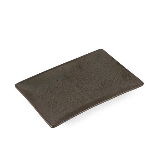 "Black Speckled Rectangular Plate 8"" x 5.5"""