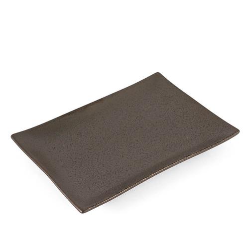 "Black Speckled Rectangular Plate 10"" x 7"""