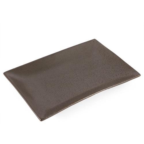 "Black Speckled Rectangular Plate 12"" x 8.5"""