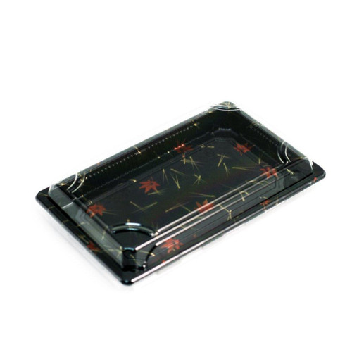 "A-02HL Momiji Leaf Take Out Sushi Tray 7.2"" x 5"" (500/case)"