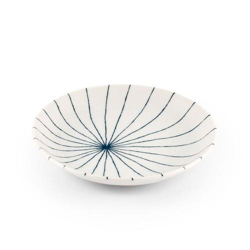 """Tokusa Blue Lined Side Plate 6.3"""" dia"""