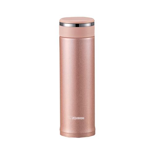 Zojirushi Stainless Steel Travel Mug with Tea Leaf Filter 16 fl oz Pink Champagne SM-JTE46PX