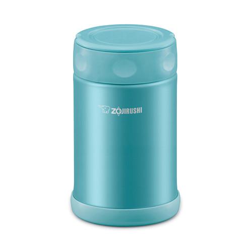 Zojirushi Food Jar 17 fl oz Stainless SlickSteel Aqua Blue SW-EAE50AB