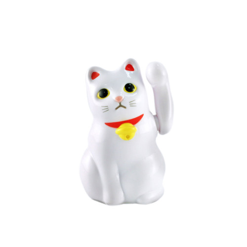 "Solar-powered Lucky Cat Maneki Neko 2.48"" ht"