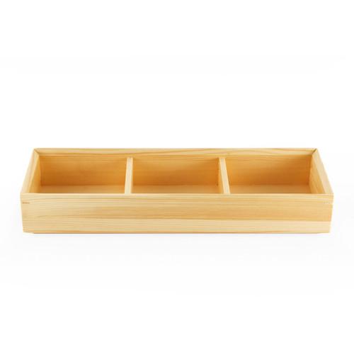 Kiwami Wooden 3 Compartment Bento Platter