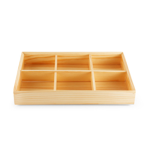 Kiwami Wooden 6 Compartment Bento Platter
