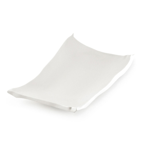 """[Clearance] Hakuji Glossy White Square Dinner Plate 13.78"""" x 8.86"""""""