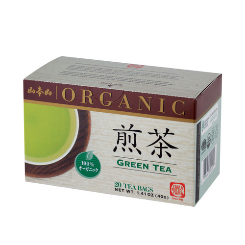 Yamamotoyama Organic Sencha Green Tea 20 Tea Bags