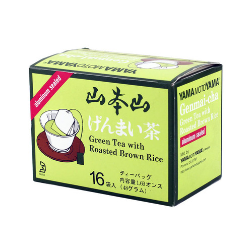 Yamamotoyama Genmai Green Tea with Roasted Brown Rice 16 Tea Bags