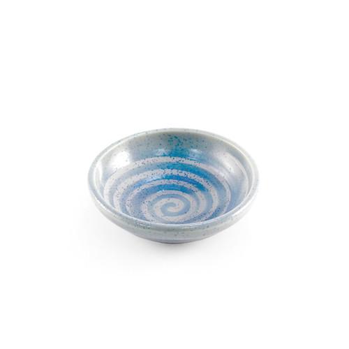 """Blue Swirl Kobachi Bowl 3.19"""" dia"""