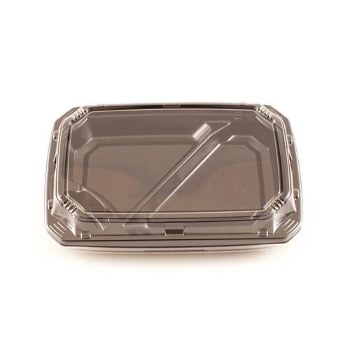 "Lids for COT 55 Black Take Out Bento Box 9"" x 6.1"" #97207 (900 lids/case)"