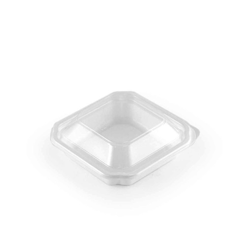 """Lids for BF-11 Small White Take Out Tray 4.3"""" x 4.3"""" #800621 (1600 lids/case)"""