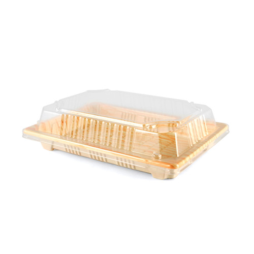 """Lids for TZ-008 Take Out Sushi Tray 6.5"""" x 4.5"""" #9592 (1500 lids/case)"""