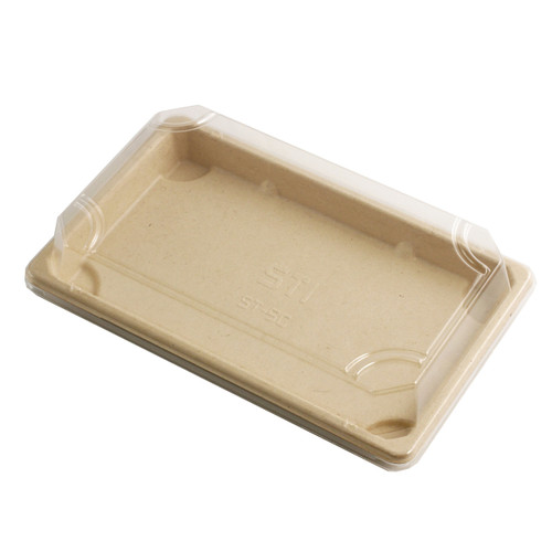 """Lids for ST-5G Biodegradable Take Out Sushi Tray 8.4"""" x 5.25"""" #8429 (800 lids/case)"""
