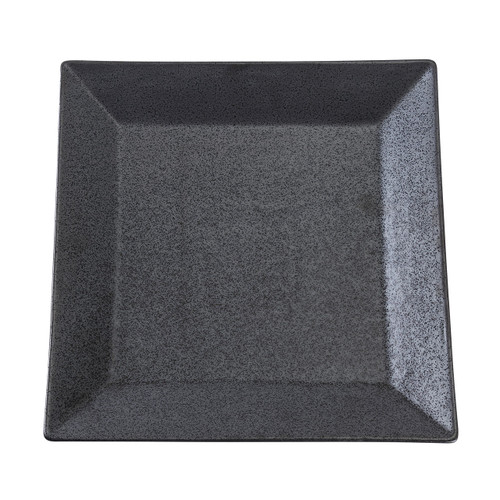 "Black Speckled Porcelain Square Rimmed Plate 10"" x 10"""