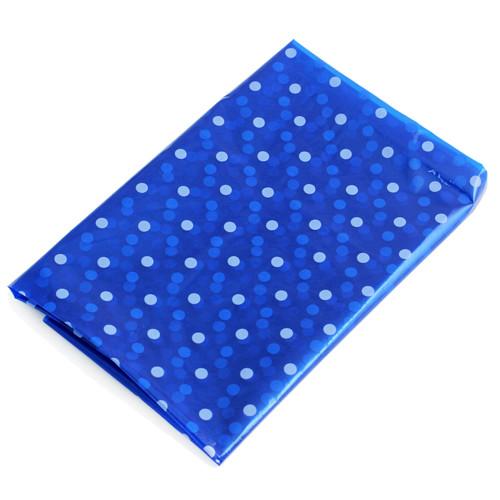 """Furoshiki Blue Wrapping Vinyl White Dots 39"""" x 39"""" - 100 Pieces"""