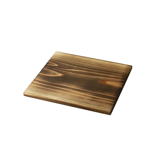 "Burnt Cedar Wooden Trivet 7.1"" x 7.1"""