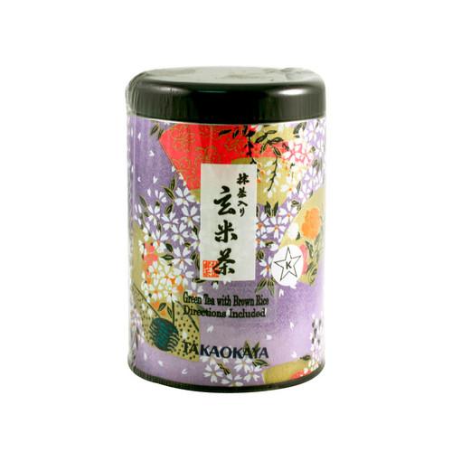 Takaokaya Genmai-cha Green Tea with Matcha 3.5 oz / 100g Loose Leaf