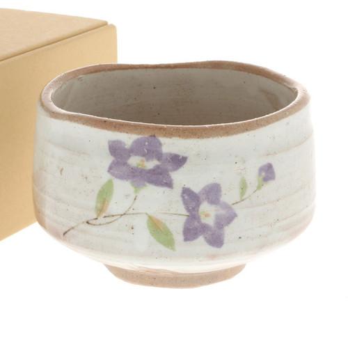 "Matcha Tea Bowl Purple Bellflower 21 fl oz / 4.5"" dia"