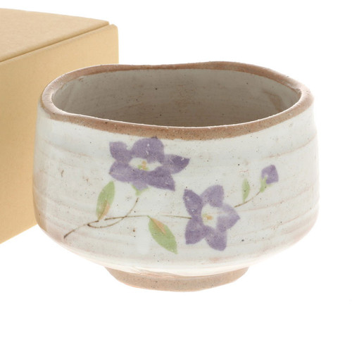 "Matcha Tea Bowl Purple Bellflower 21 fl oz / 4.5"" dia"