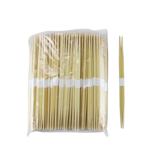 "9.5"" Disposable Bamboo Chopsticks Bundled, Double Tips - 100 Pairs / Pack"