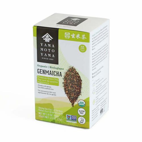 Yamamotoyama Organic Premium Genmai Green Tea 18 Tea Bags