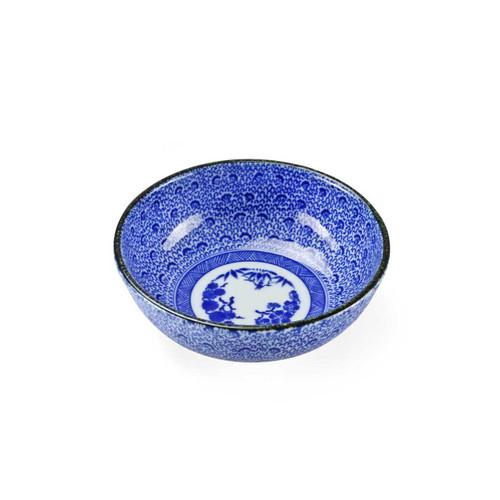 """Blue Kosome Pattern Kobachi Bowl 4.5"""" dia"""