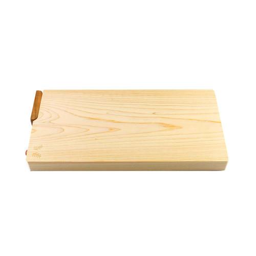 "Hinoki (Japanese Cypress) Cutting Board w/Stand 14.2"" x 7.1"" x 1.2"" ht"