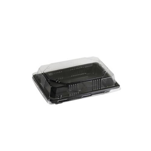 """YB-01 Pet Black Take Out Sushi Tray 6.7"""" x 4.72"""" (500/case)"""