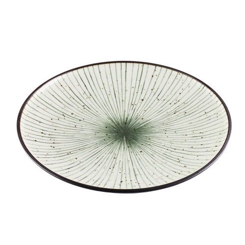 """[NEW] Tokusa Blue Lined Interior Serving Plate 10.2"""" dia"""