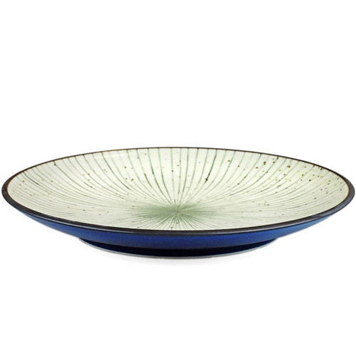 """[NEW] Tokusa Blue Lined Interior Serving Plate 11.45"""" dia"""