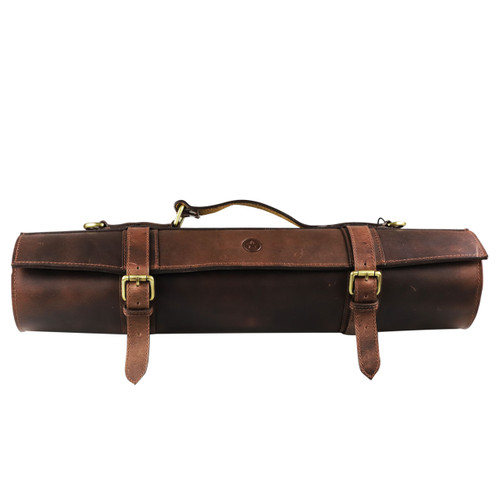 Walnuts Leather 10 Slots Knife Roll Bag