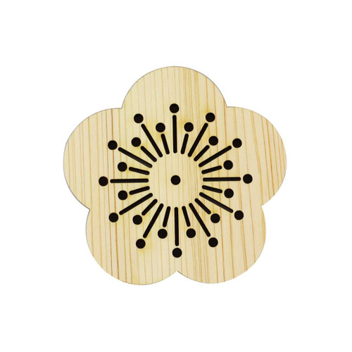 Hinoki (Japanese Cypress) Coaster Plum Flowers
