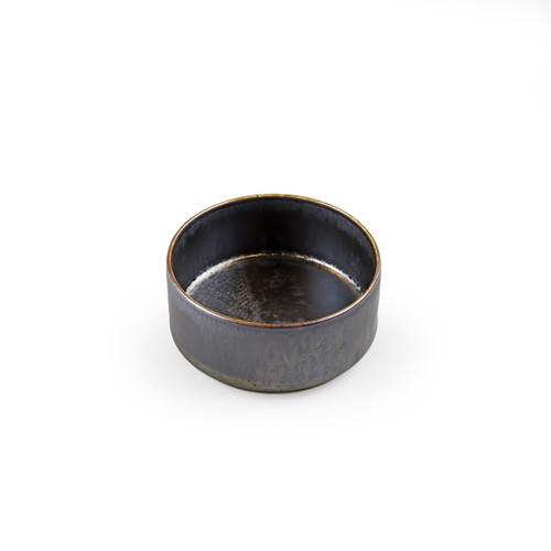 "[NEW] Metalic Black Stackable Kobachi Bowl 9 fl oz / 3.9"" dia"
