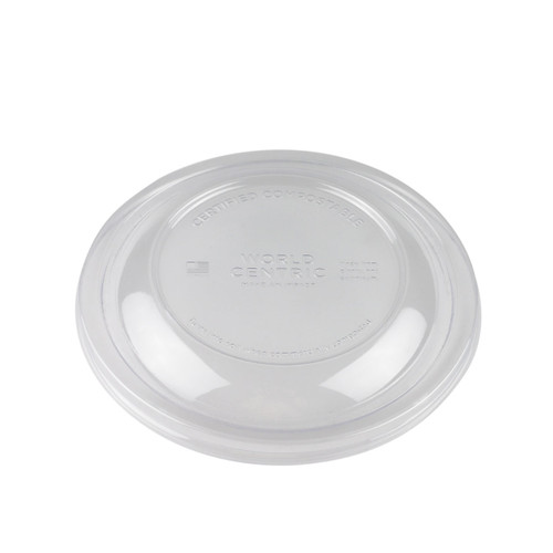 Compostable Clear Lids for Biodegradable Take Out Bowl #88031, #89622, #87654 (300 lids/case)