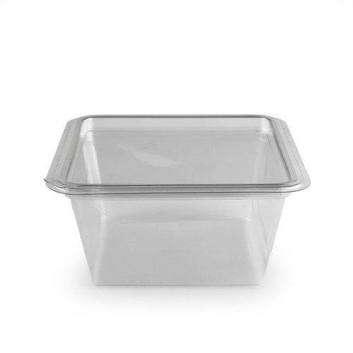 "[Clearance] PET Clear Plastic Take Out Container 24 fl oz / 6"" x 6"" (300/case) - No Lids"