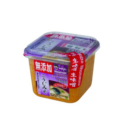 Yamajirushi Koji Nama Miso 26.5 oz (750g) No Additives, Organic Soybeans