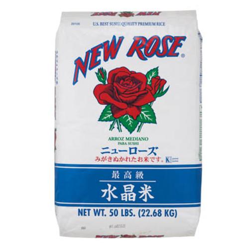 New Rose Medium Grain White Rice 22.68 kg (50 lbs)