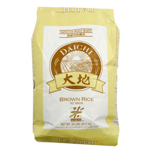 Daichi Medium Grain Brown Rice 9.07 kg (20 lbs)