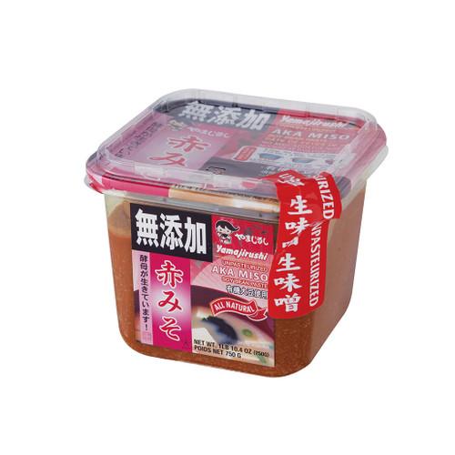 Yamajirushi Red Nama Miso 26.5 oz (750g) No Additives, Organic Soybeans