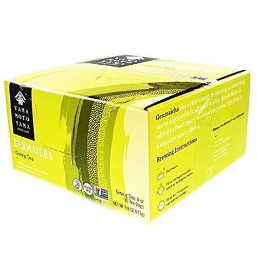 Yamamotoyama Non-GMO Genmai Green Tea with Roasted Brown Rice 90 Tea Bags
